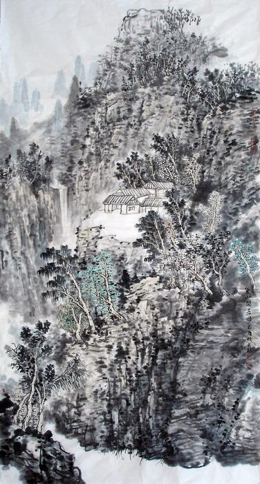 杨云鹤中国山水画网逸鹤山庄书画苑书法王明明杨延文.